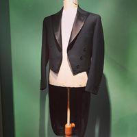 Men's Suits & Blazers 2021 Fashion Handsome Black Male Long Suit Tuxedo Wedding For Prom Blazer Classic Evening Set Custom Made