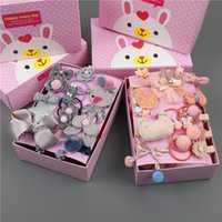 Hair Accessories 18pcs set Gifts Box Kid Fashion Accesories Hairpin Headband Gift Baby Girls Hairbands Hairclip Bands Barrettes