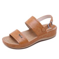 Sandals On The 2021 Casual Women Style Cross-border Metal Buckles Thick Bottom Of Pregnant
