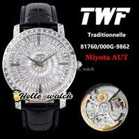 Twf TradeNelle ساعات مجوهرات 40 ملليمتر 82760 / 000G-9852 الجبسوفيلا الماس ديل مياوتا 8215 التلقائي رجالي ووتش 316L حالة الصلب جلدية hello_watch.