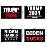 Una amplia selección de campañas de la bandera de colores para la presidencia de los Estados Unidos 2024 Trump Electoral, Banderas de la elección Terylene Guarde America nuevamente tienen banner creativo 90 * 150cm 12ls y2