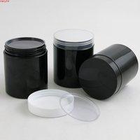20 x пустые 250G черные банки для домашних животных с белыми пластиковыми винтовыми крышками 250 мл 8,33 унции кремового контейнера с PE Padhigh Qualthity