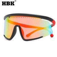 HBK الرجعية Faceshield واقية Sunglasse الرجال بدون شفة قناع السلامة نظارات نظارات windproof المتضخم للجنسين 210529