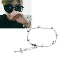 BTS Park Ji min Jimin con il braccialetto classico croce nappa palla può essere regolato per uomini e donne braccialetto all'ingrosso caldo
