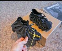 2021 Çocuk Moda Erkek Kız Bulut Beyaz 450 Sneakers Toddler Küçük Büyük Çocuk Marka Eğitmenler Koyu Slate Tasarımcı Ayakkabı Örgü Spor Ayakkabı