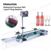 Small Digital Control Automatic Milk Bottle Liquid Filling Machine Waterproof Conveyor Belt For Production 1200mm or 600mm