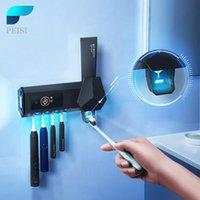 Supporto per spazzolino da denti Sterilizzatore intelligente Automatico Dentifricio Squeezer Dispenser Accessori da bagno Set Accessorio da bagno