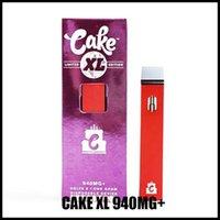 Новый торт XL Delta 8 Аккумуляторные сигареты одноразовые Vape Device Электронные Ecigarettes 940mg Limited Edition Air Bar Max Puff Bang XXL Max