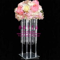 Party Decoration Tall Clear Acrylic Crystal Flower Stand For Holiday,Floral Arrangement Wedding Event Centerpiece Holder Luxury Deco