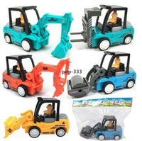 Modelo Diecast carros de engenharia inercial caminhão mini escavadeira crianças pequenas crianças