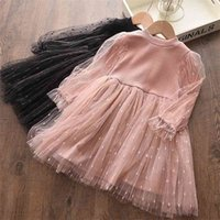 1-6Y Autumn Spring Toddler Kid Girls Tutu Dress Princess Long Sleeve Lace Party Birthday Dresses For Child Clothes 210515
