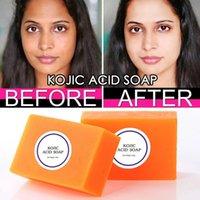 100G Kojic Acid Soap Essential Oil 수제 바디 피부 얼굴 치료 치료 치료 비누 목욕탕 샤워
