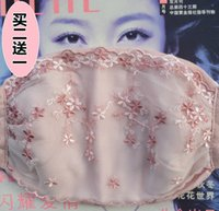 Fashionable Windproof Sunscreen Thickened Korean Lace Lovely Cotton Warm and Enlarged Mask Winter Girl 0MSF
