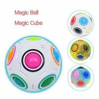 Party Favor Kreative Spaß Zauberkugel Regenbogen Fußball Stress Relief Puzzle Spielzeug Für Kinder Autismus Sonderanforderungen Erwachsene Stress Reliefprodukte Tragbare