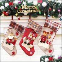 Christmas Decorations Festive Home & Gardenchristmas Hanging Socks Lovely Gift Bag Doll Models Cartoon Santa Claus Snowman Big Stocking Part