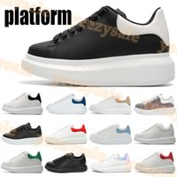 2021 reflective fashion white leather platform casual shoes ...