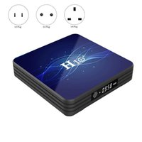 Android 9.0 H10 + Smart TV Box Dual Band WiFi Bluetooth 4.0 2 + 16G LED Display a LED 4K Media Player CAMCORDERS