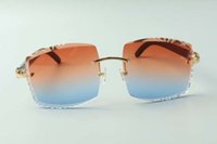 2021 Newest Style Diseñadores de alta gama Gafas de sol 3524022, Lente de corte de alta calidad Cuernos de búfalo negro natural Gafas, Tamaño: 58-18-140mm