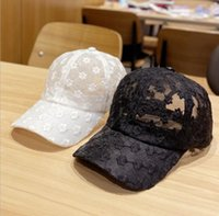 Sun summer Korean version net red chrysanthemum lace hat breathable baseball cap small fresh female Party Hats DB893
