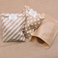 100pcs Paper Treat Candy Bag Polka Dot for Wedding Birthday Xmas Year Party Favors Supplies Gift Bags 3TR4