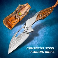 Damascus VG10 steel folding knife pocket EDC hunting tool snake wood outdoor tactical fighting cool sword hiking camping survival self-defense fishing for men