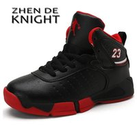 Boy Brand High Quality Thick Sole Leather Kids Sneakers s Basketball Shoes Children Sport Basket Ball Trainer 210916