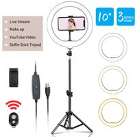 10inch LED Light Photography Selfie Lighting with Tripod Stand for Smartphone Youtube Makeup Video Studio Ring Lamp