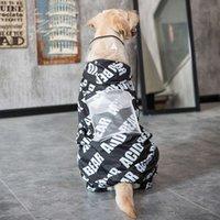 Suprimentos de pele dourada capa de chuva quatro pés impermeável médio tamanho grande cão samoye labrador husky pano