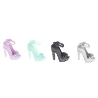 Random 10 Pairs Fashion Colorful Sandals Copy Crystal High Heels Shoes For Barbie Doll Girls Gift Accessories Clothes Dress Prop Q0608