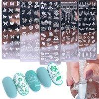 Perfectectectionspring Imagen de hoja de uñas Placas de estampado de placas Transferir Polonia Imprimir para la plantilla de uñas Placas de estampado de moldes Manicura GlstzN01-12-1