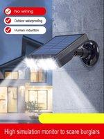 مصابيح الشمسية LED مصباح في الهواء الطلق محاكاة كاميرا مراقبة جسم الإنسان التعريفي جدار الريف الفناء الدليل