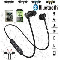XT11 Magnetic Wireless Bluetooth Earphones Running Music Headset Neckband Sports Earbuds Earphone With Noise Cancelling Mic