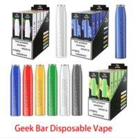 Geek Bar Descartável E Cigarros Vape Device Pod Kit 500mAh Bateria 2.4ml Cartucho Pré-preenchido 575 Puffs 2% Vapores com 12 cores Barra de ar Max Bang XXL