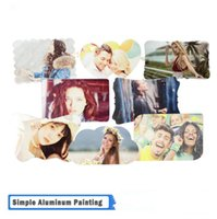 DIY sublimation aluminum sheet home decor 20 designs blank thermal transfer mental plate picture birthday mother father family Commemorative photo frames WMQ805
