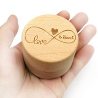 Jewelry Pouches, Bags Personalized Rustic Wedding Wooden Ring Box Trinket Storage Container Holder Custom Love Is Sweet Rings
