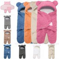 Baby Plush Sleeping Bag Newborn Симпатичные Мягкие Спальные Обертки Равоцита Ребенок Мило Получение Одеяло Спящий Сумный Мешок Спать (0-6 месяц) 1359 y2