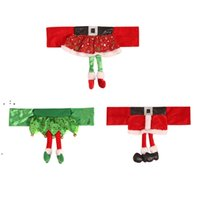Christmas Chair Cover Santa Claus Belt Chair Covers Ghristmas Girl Skirt Stool Decorations CCB10908