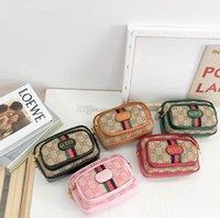 Designer Kinder Brief Geldbörse Mädchen Streifen Riemen Eine Umhängetasche Kinder Messenger Bag A6673