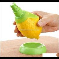 야채 주방 식사 바 홈 정원 드롭 배달 2021 도매 2pcsset 레몬 분무기 신선한 과일 감귤 류 스프레이 오렌지 주방 요리 t