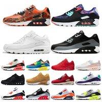 max 90 nuovo  uomini e donne scarpe da corsa nero rosso bianco sport allenatore cuscino d'aria superficie traspirante sportivo uomo sneakers scarpe 36-46