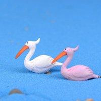 Mini Heykelcik Flamingo Karikatür Bebek Oyuncak Moss Teraryum Ekoloji Şişelenmiş Süsler Mikro Peyzaj Aksesuarları Peri Bahçe DIY Malzeme DHA88