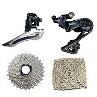 دراجة دراجة نارية chainwheels ultegra r8000 11 سرعة groupset cassette + derailleur الجبهة + الظهر derailleur + سلسلة الطريق دراجة 4 أجزاء