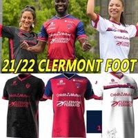 21/22 Clermont Foot 63 Futbol Formaları Ev KIRMIZI AWEST Üçüncü 2021 2022 Bayo Dossou Allevinah Berthomier Magnin Iglesias Söyleyin 3. Futbol Gömlek Üniformaları Tayland