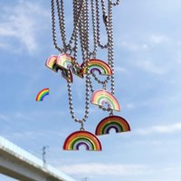 Pendant Necklaces Fashion Rainbow Necklace Men And Women Couples Hip Hop Creative Wine Bottle Love Set DIY Jewelry