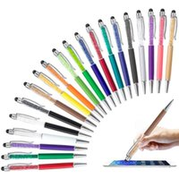Ballpoint Pens 20pcs Retractable Pen Bling Stylus Crystal Diamond Screen Touch Capacitive For Note Tab 20 Pen-Black Ink