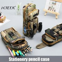 Pencil Bags Camo Long Slim Case Big Capacity Pen Holder For Boys Kids Cool Zipper Organizer Large Storage School Stationery FL