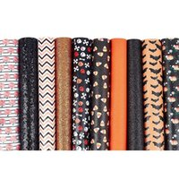 Hooks & Rails 10 Sheets Halloween Faux Leather Theme Synthetic Fabric For Earrings Headbands Crafts Making