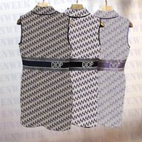 Designer Lettere Lettere Donne Maglie Giorno Abiti Moda Senza maniche Casual Camicie Casual Abito da donna Party Short Gonne Abbigliamento