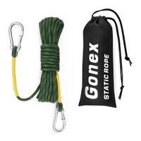Godex Pro 30M Static Climbing Rope Dia 8mm Rock Corda de escalada para escalar incêndio escape de caminhadas Proteção de engenharia