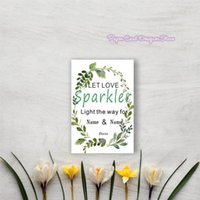Personalized Wedding Sparkler Tags Let Love Sparkle Date Insert Card Send Off Shine Sign Firework Glow Greeting Cards
